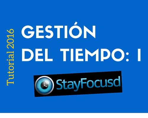 Gestión de tiempo I: Stayfocusd