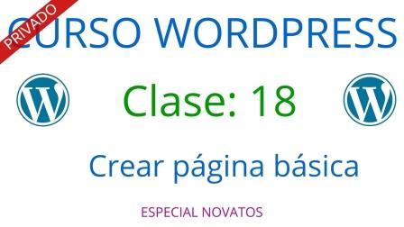 Curso WordPress #18: Crear una página básica