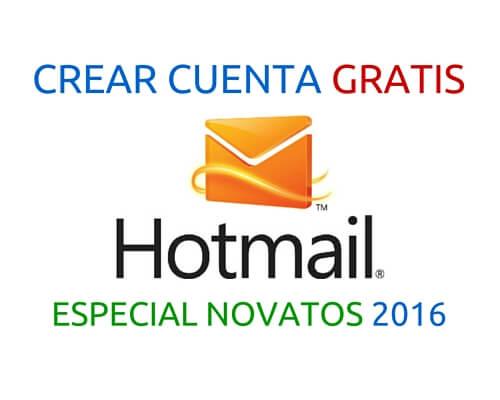 Crear cuenta de correo con Hotmail