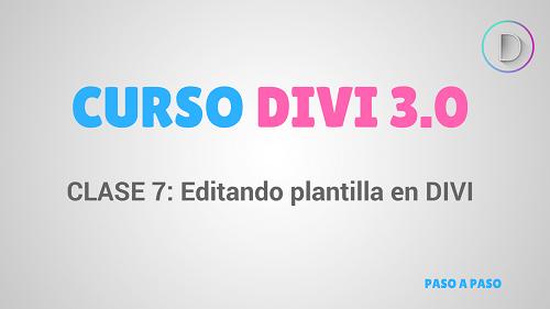 Clase 7: Editando una plantilla de muestra en Divi