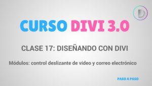 Módulos_ control deslizante de vídeo y correo electrónico optin