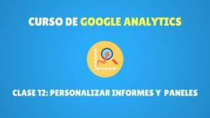 personalizar informes y paneles en Google Analytics
