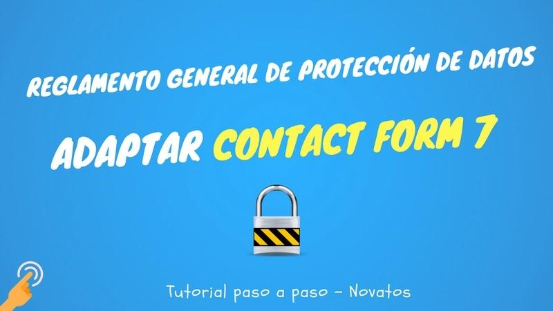 Adaptar Contact Form 7 al RGPD