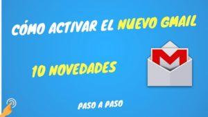 nuevo gmail y novedades