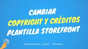 cambiar créditos y copyright footer storefront
