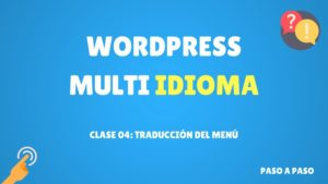 traducción del menú en wordpress