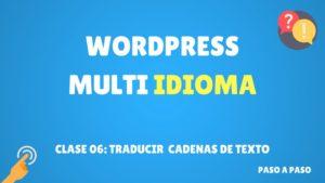traducir cadenas de texto wordpress
