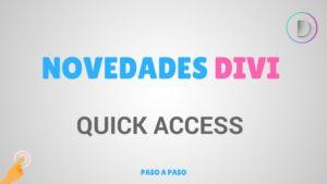 wordpress divi quick access