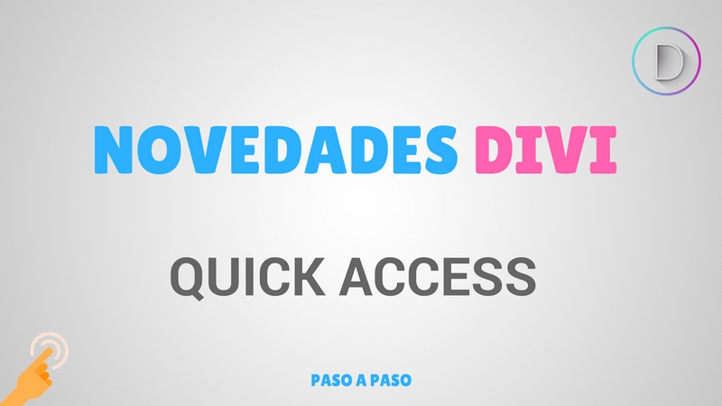 wordpress divi quick access
