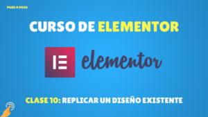 Curso de Elementor: Replicar un diseño existente