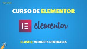Curso de Elementor: Widgets Generales