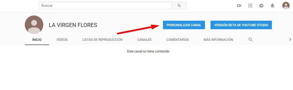 paso previo para verificar cuenta de youtube