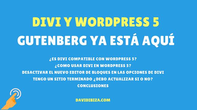 Divi en WordPress 5 – Gutenberg ya está aquí