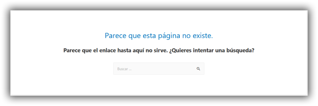 Error 404 WordPress