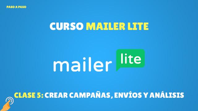 Curso MailerLite Crear campañas, envíos y análisis