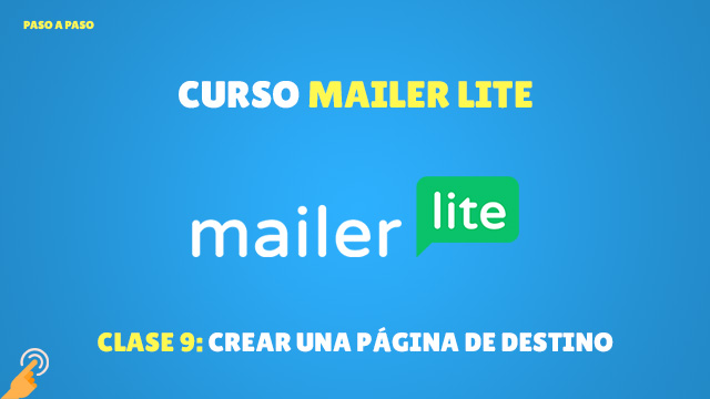 Curso MailerLite Crear una página de destino