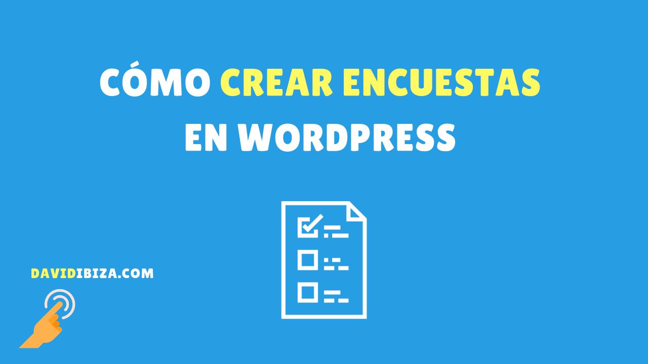 crear una encuesta en WordPress