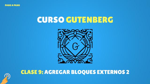 Curso Gutenberg: agregar bloques externos parte 2