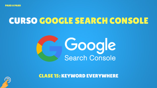 Curso de Search Console Keyword everywhere