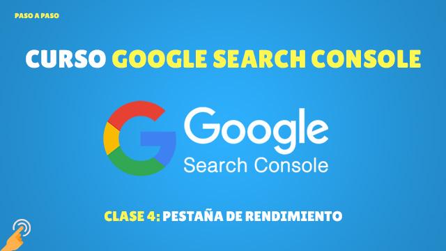Pestaña de rendimiento de Google Search Console