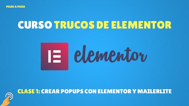 Crear popups con elementor y mailerlite