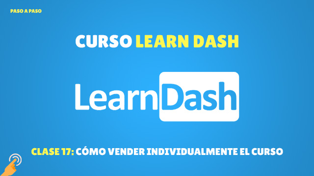 Cómo vender individualmente un curso en LearnDash