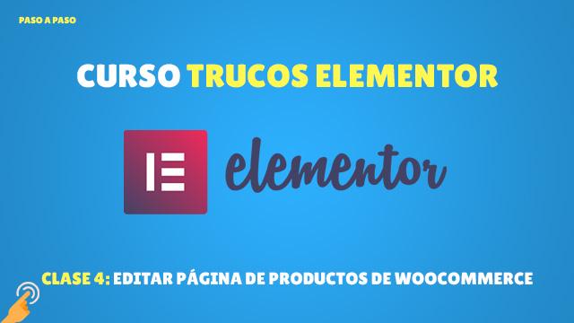 Crear página de productos de woocommerce con elementor
