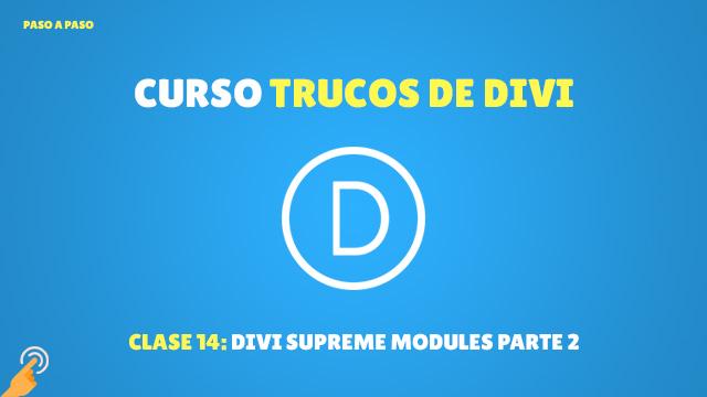Curso Trucos de Divi #14: Divi Supreme Modules parte 2