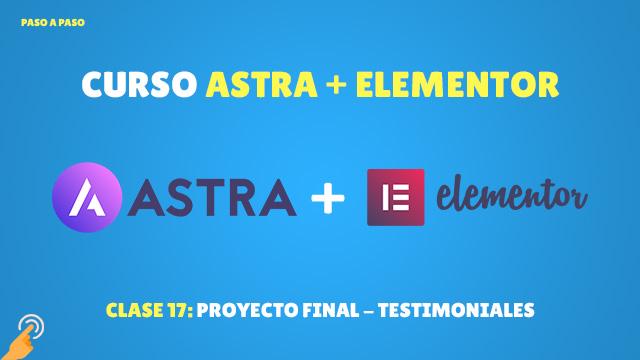 Curso Astra + Elementor Clase #17: Proyecto final – Testimoniales