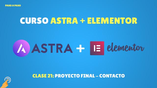 Curso Astra + Elementor Clase #21: Proyecto final – contacto