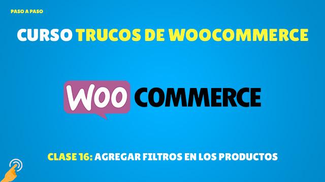 Agregar filtros en los productos de WooCommerce