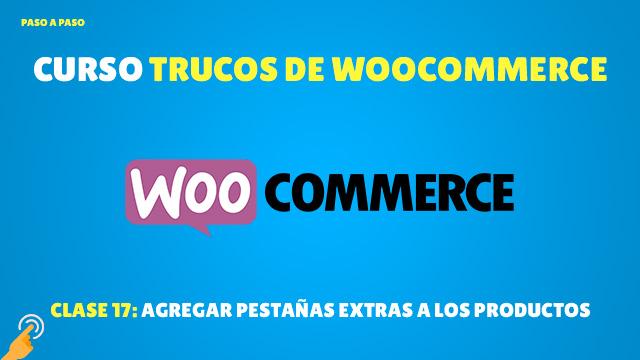 Agregar pestañas a los productos en WooCommerce