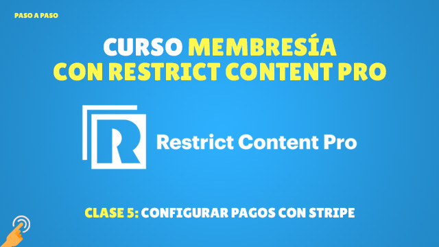 Configurar Stripe con Restrict Content Pro