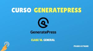 Curso de GeneratePress #18: General