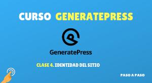 Curso de GeneratePress #4: Identidad del sitio