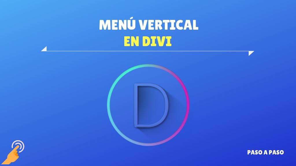 Menú vertical en Divi