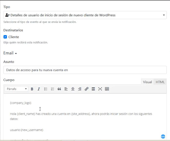 Notificaciones de correo electrónico en Bookly sistema de reservas en WordPress DavidIbiza