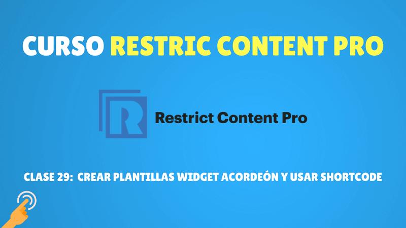 Crear plantillas Widget Acordeón y usar shortcode