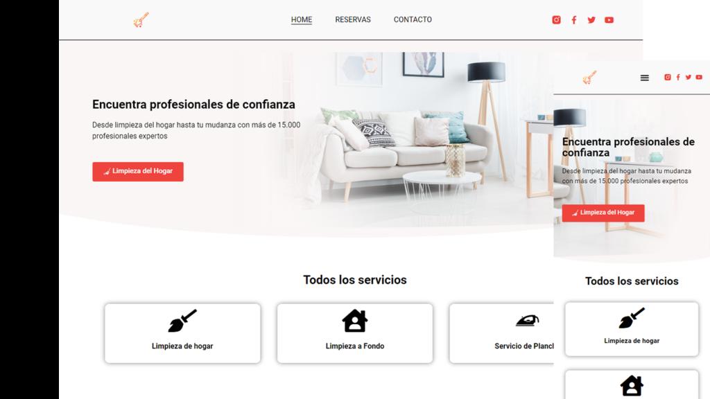 crear web para empresa de limieza