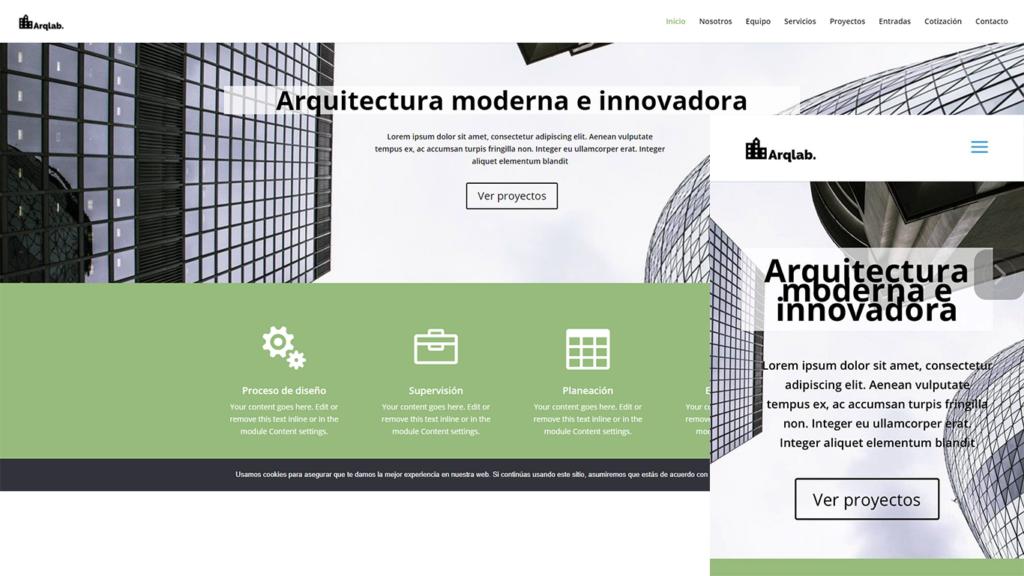 plantilla web para arquitectos