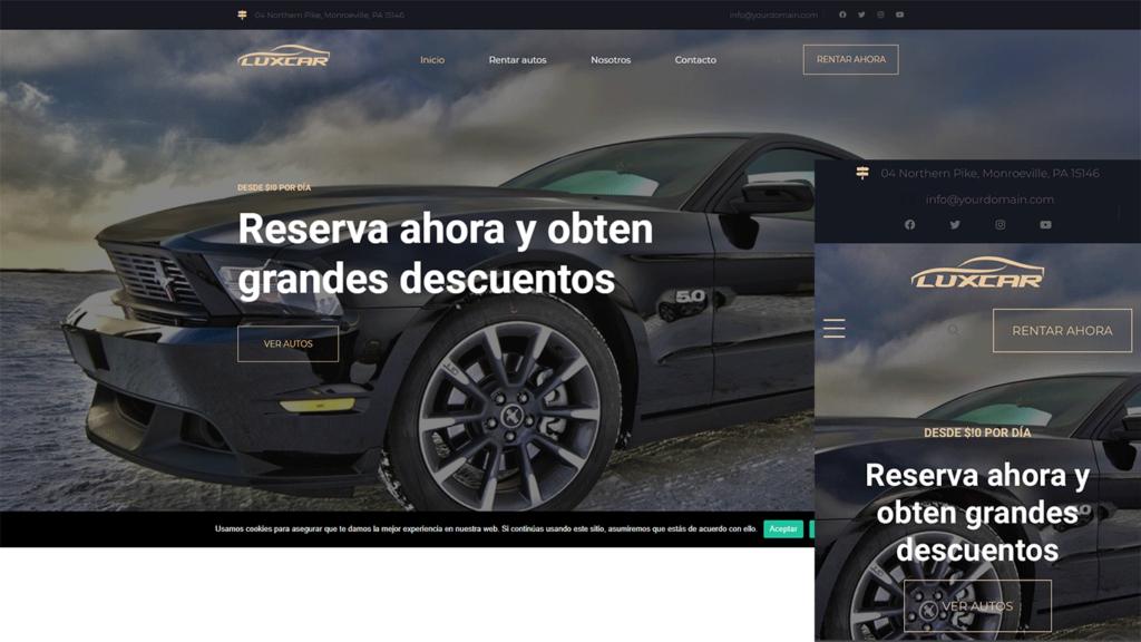 web para alquiler de coches carros