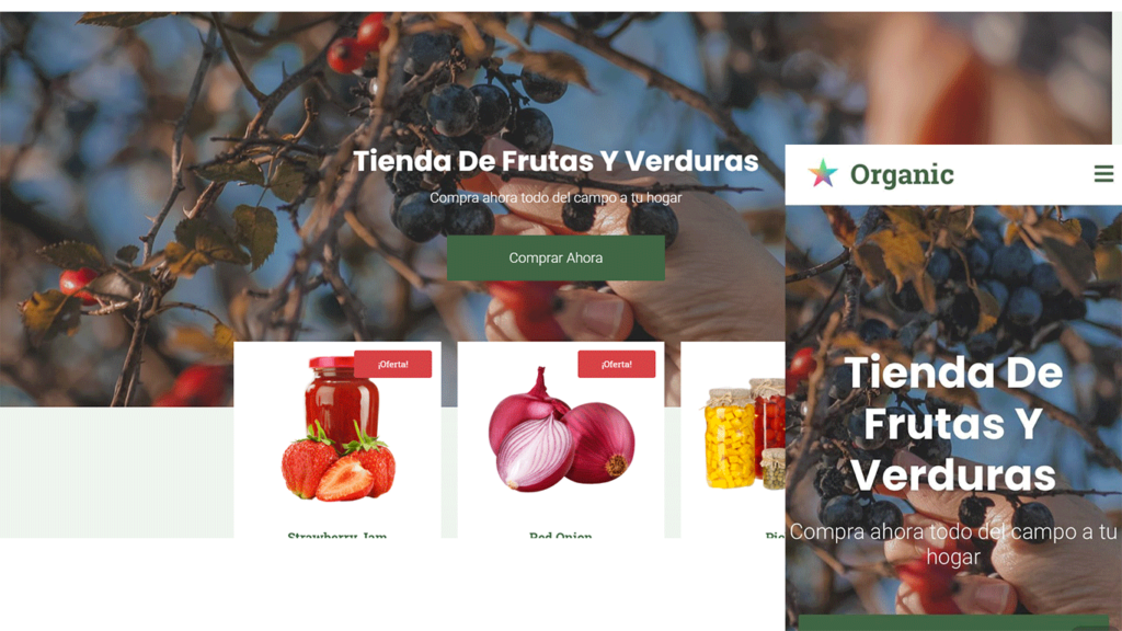 crear una tienda online para fruterías