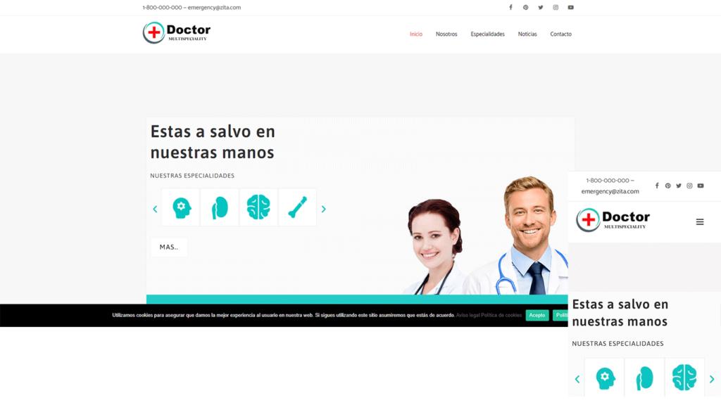 web para clínicas